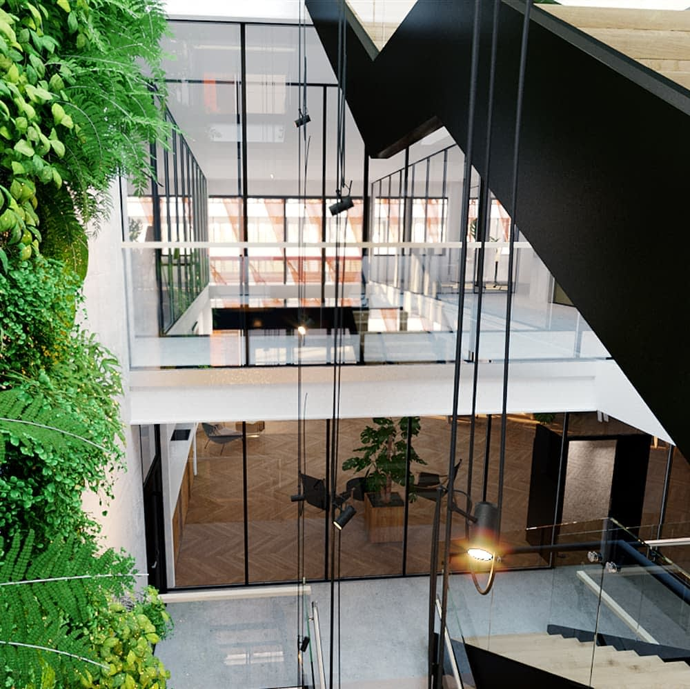 Tuottavuutesi on meille tärkeää, siksi Swing House on suunniteltu eritoten monitilaympäristötyöskentelyyn, mobiilikuva